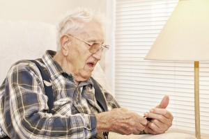 Elderly Man With Cell Phone