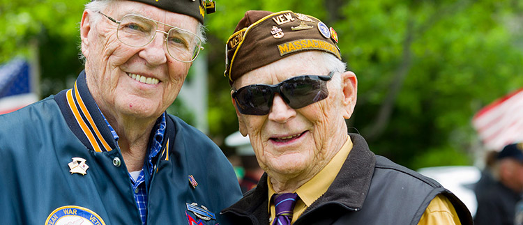 Two veterans smiling